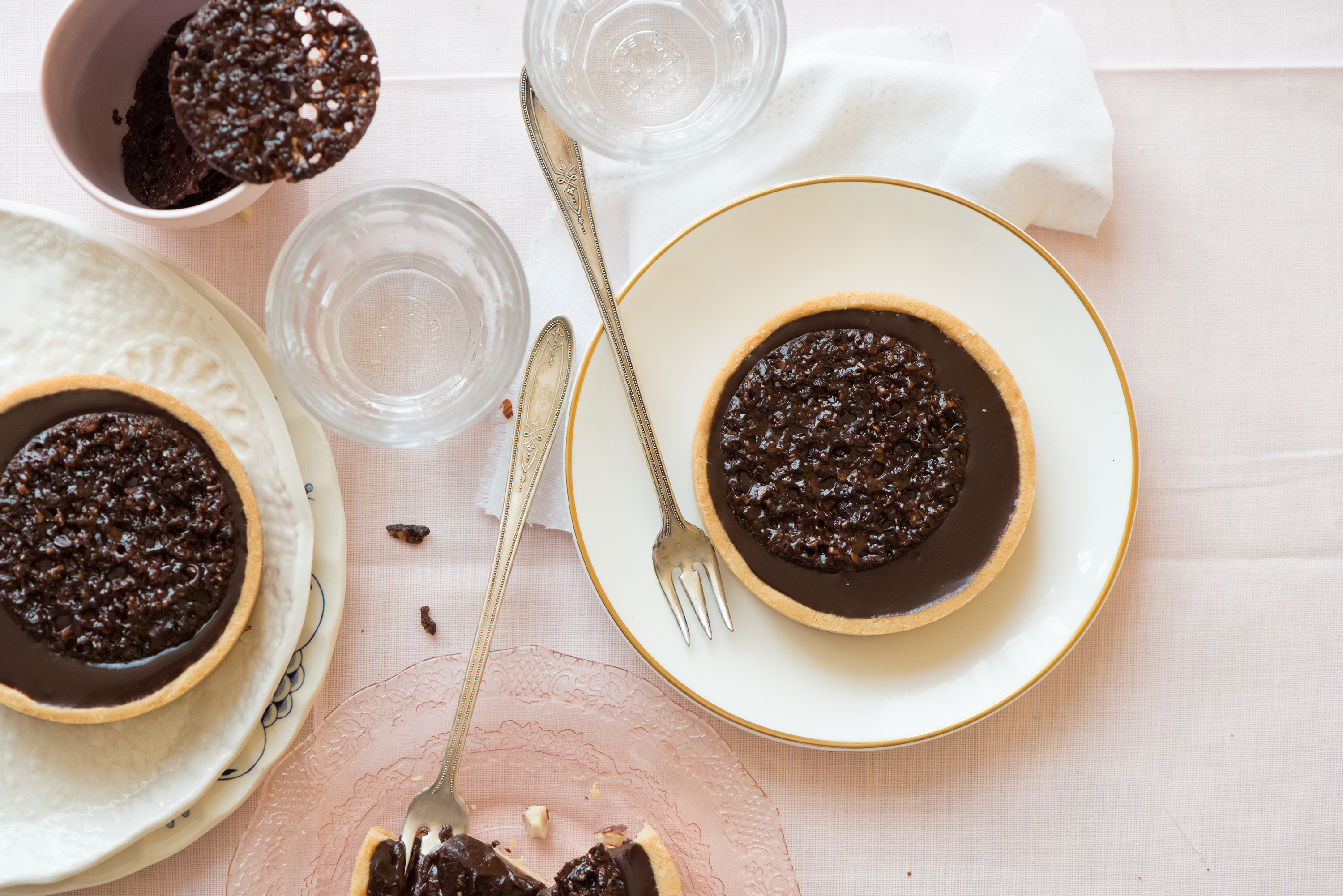 Chocolate Hazelnut Cocoa Nib Tarts | Now, Forager | Teresa Floyd Photography