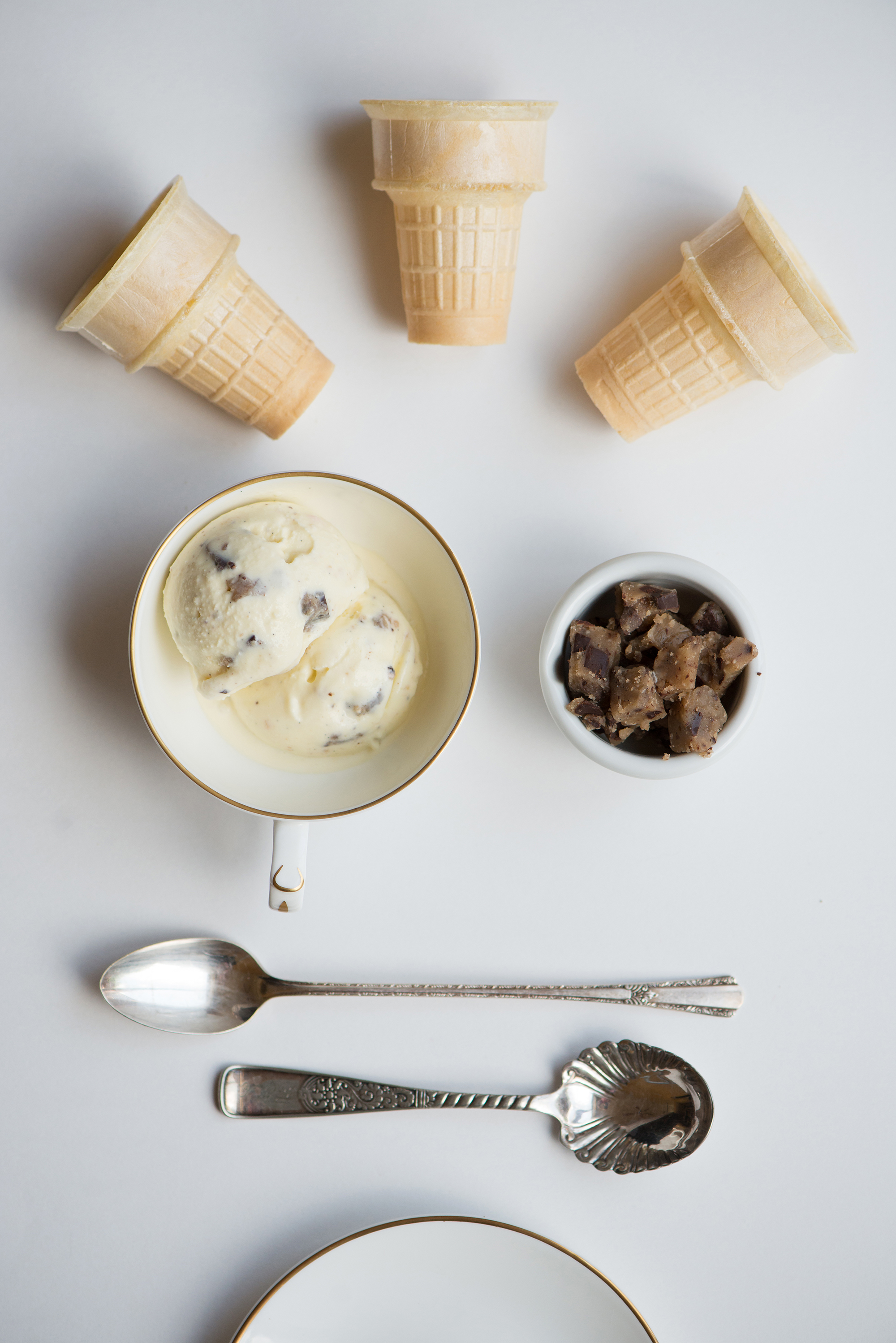 Cookie Dough Ice Cream Cones | Now, Forager | Teresa Floyd Photography
