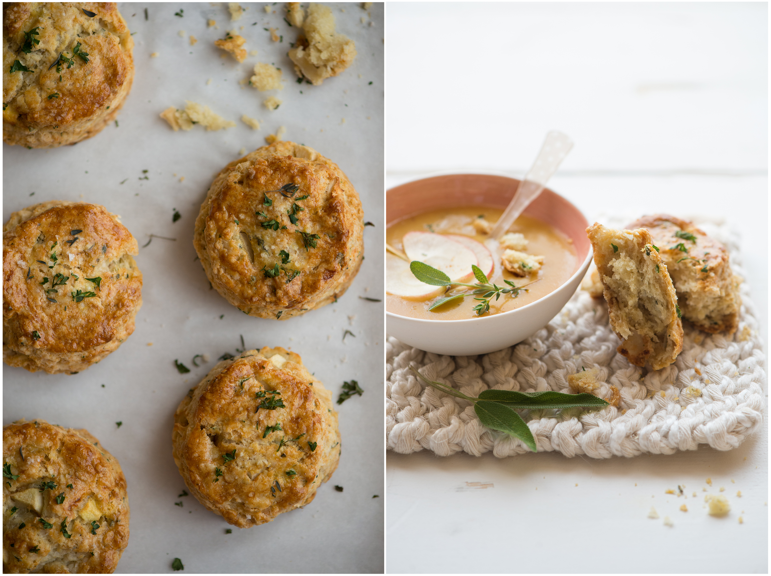 Herb Apple Gruyere Scones | Now, Forager | Teresa Floyd Photography