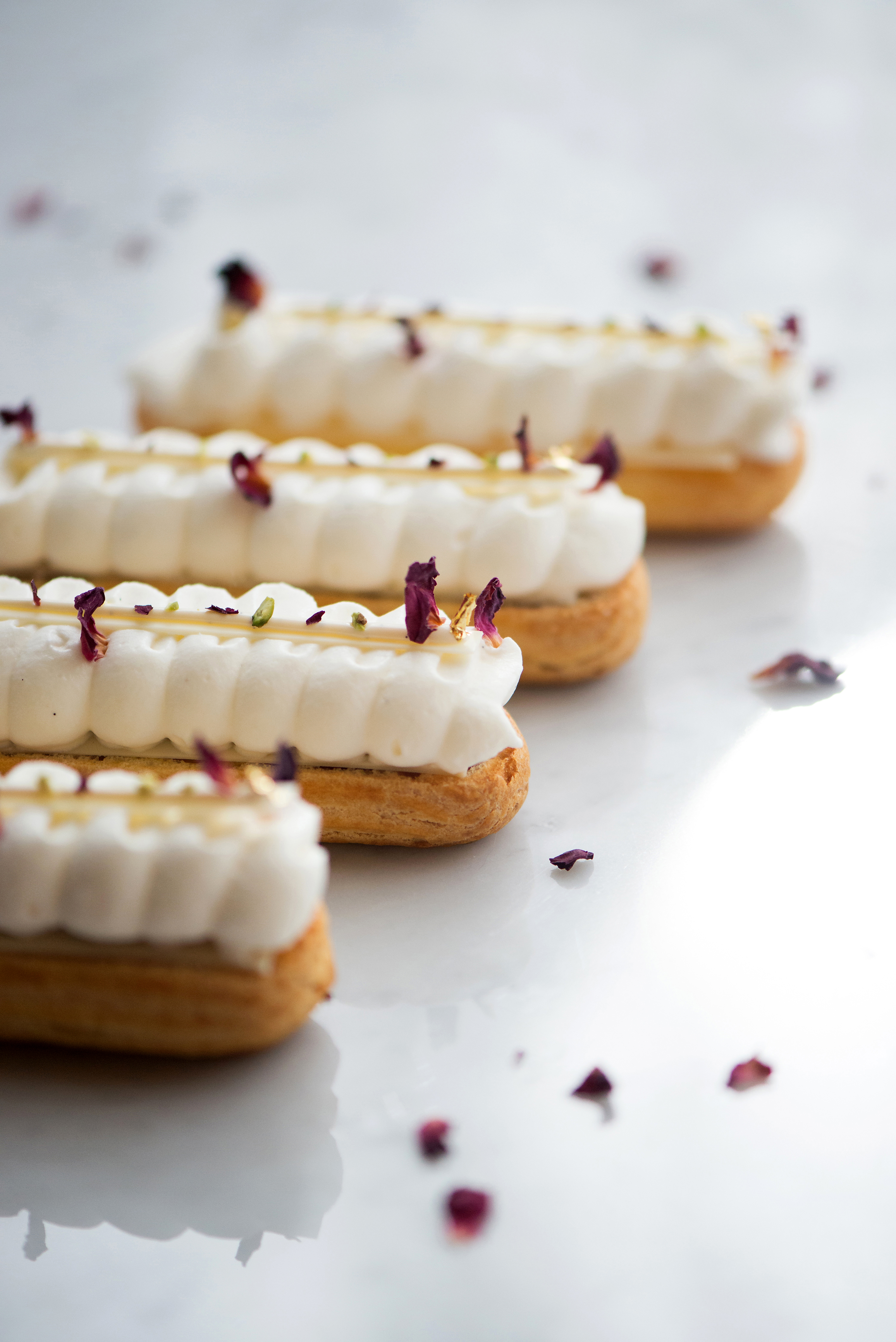 Strawberry Rose Eclairs | Now, Forager |Teresa Floyd Photography