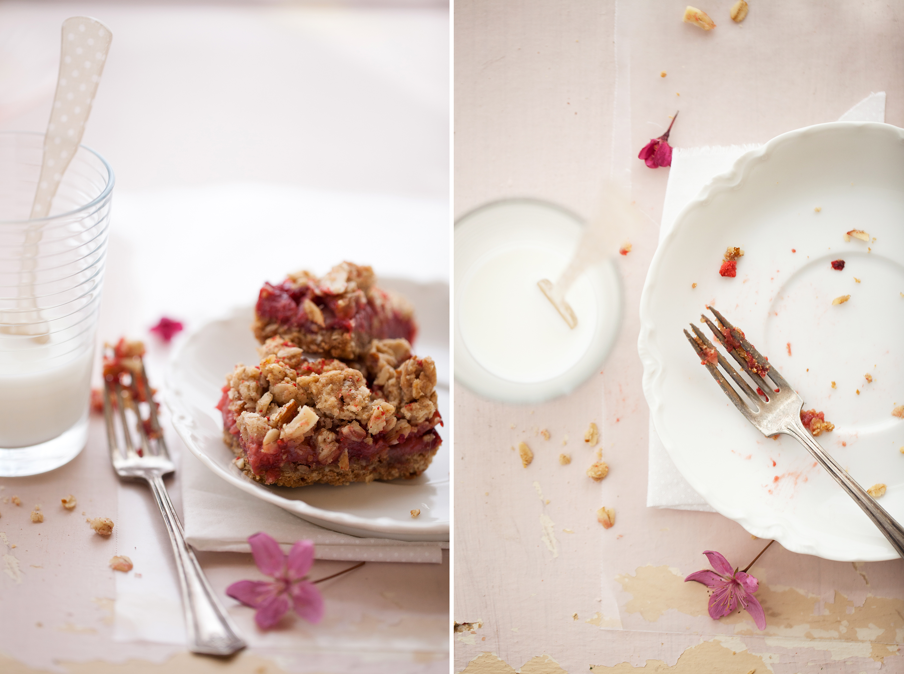 Rhubarb and Almond Red Berry Bars | Now, Forager | Teresa Floyd Photography