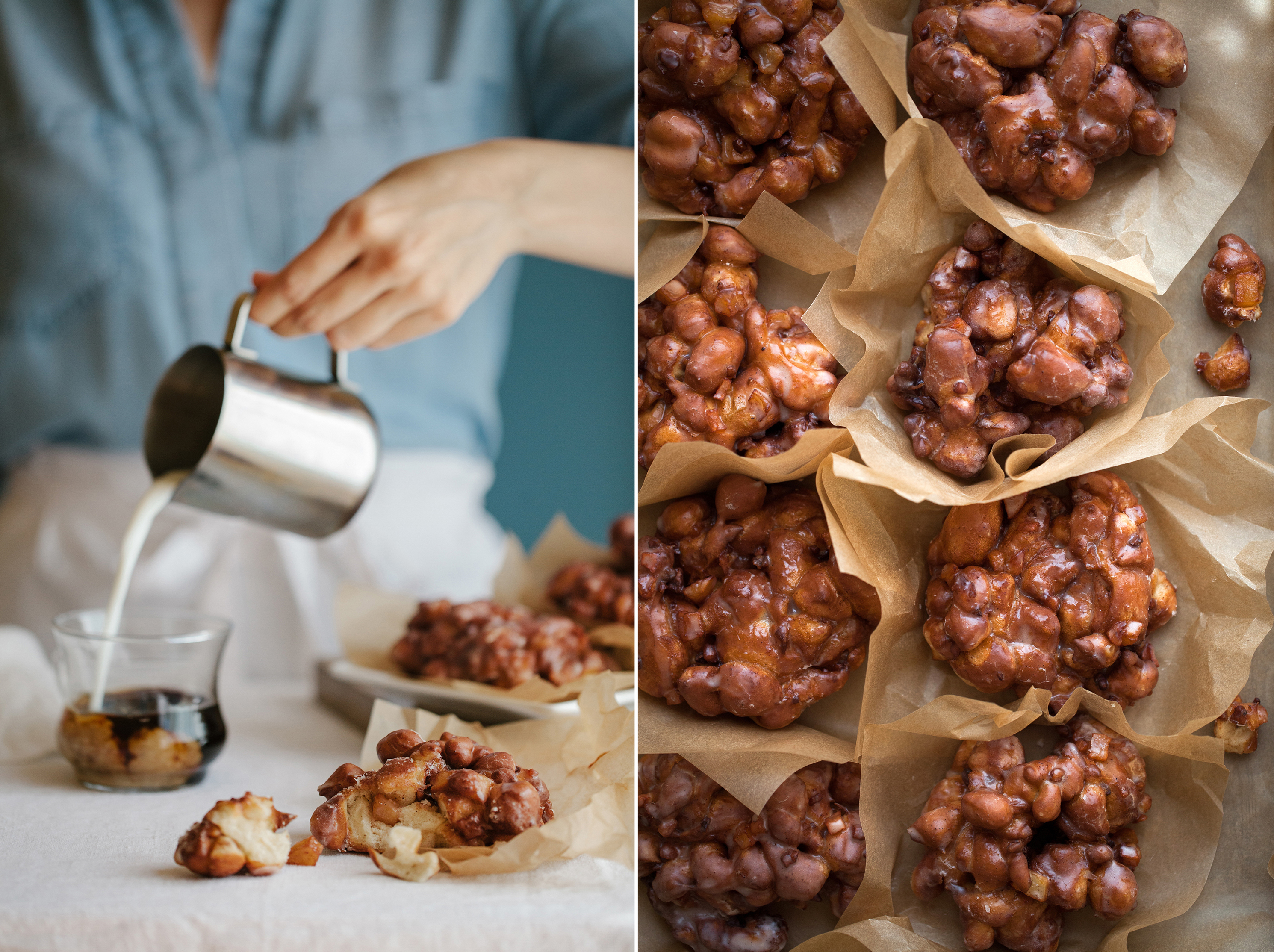 Apple Pecan Fritters with Brown Butter Glaze | Now, Forager | Teresa Floyd Photography*