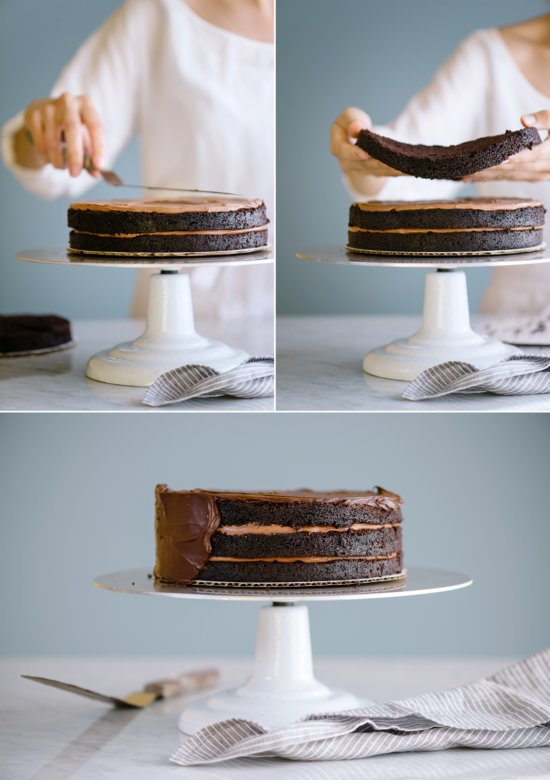 Chocolate Ganache Celebration Cake Tutorial | Now, Forager | Teresa Floyd Photography