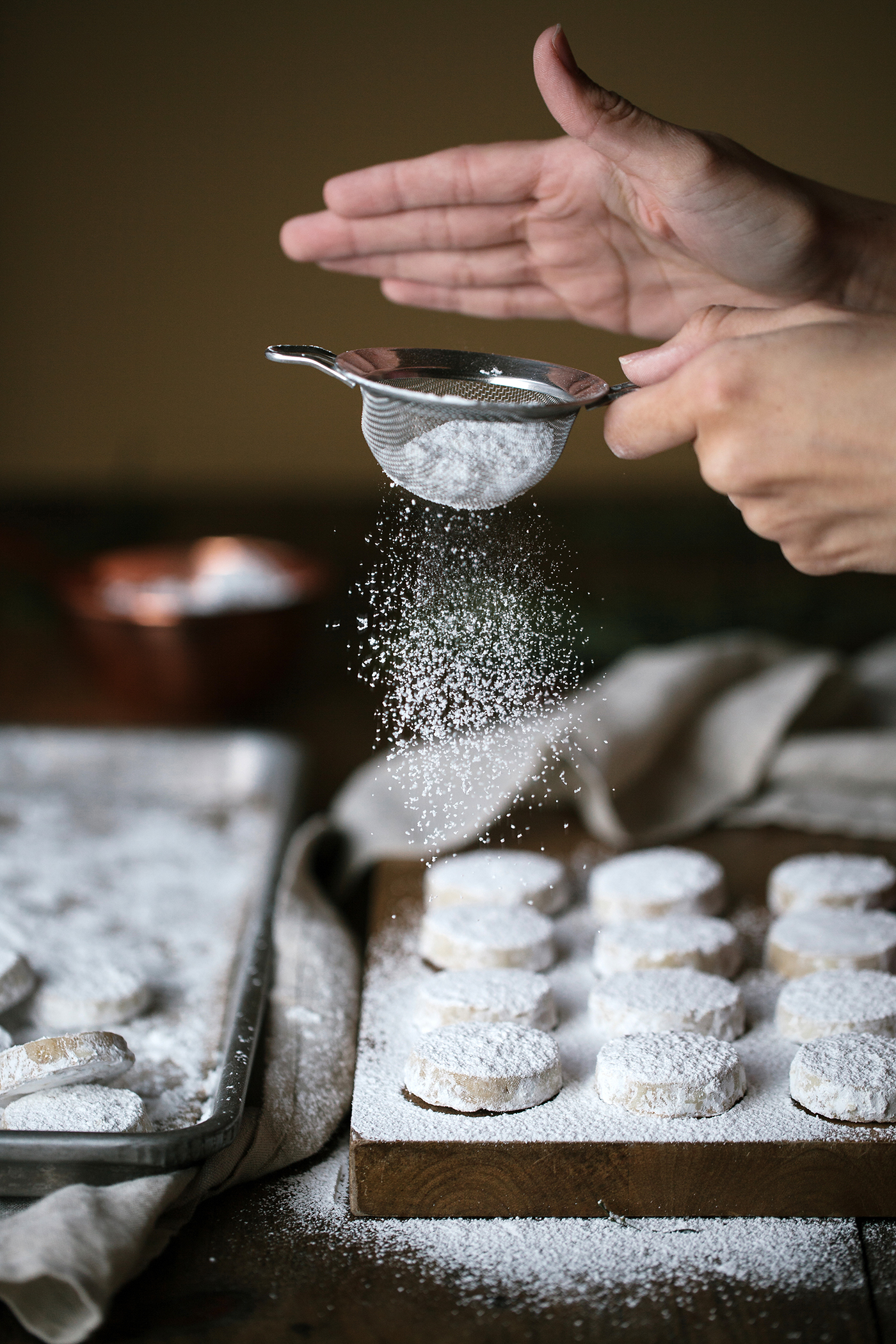 Chestnut Snow Cookies Dusting | Now, Forager | Teresa Floyd Photography