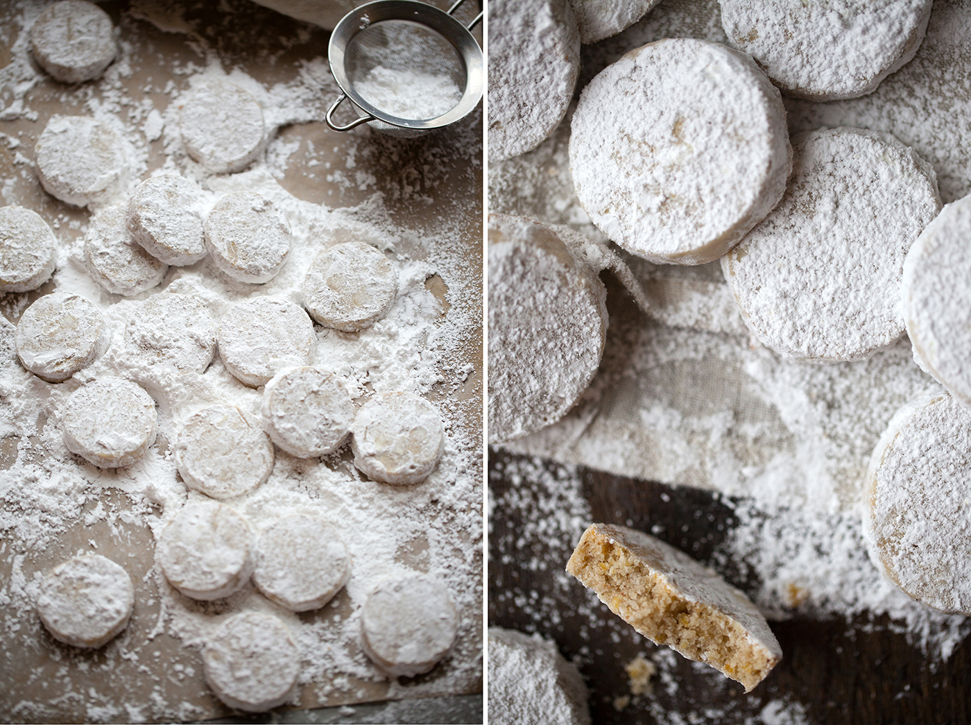 Holiday Chestnut Snow Cookies | Now, Forager | Teresa Floyd Photography
