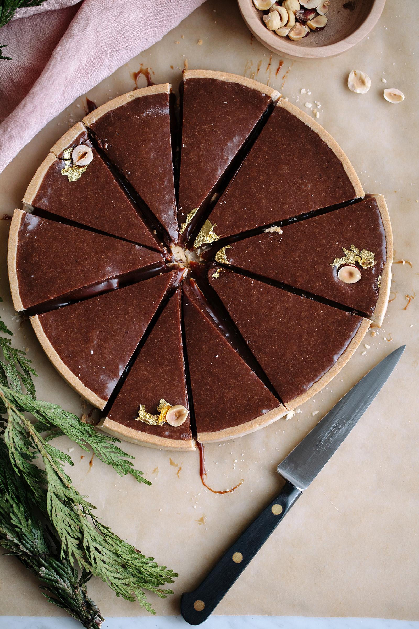 Gianduja & Salted Espresso Caramel Tart | Now, Forager | Teresa Floyd