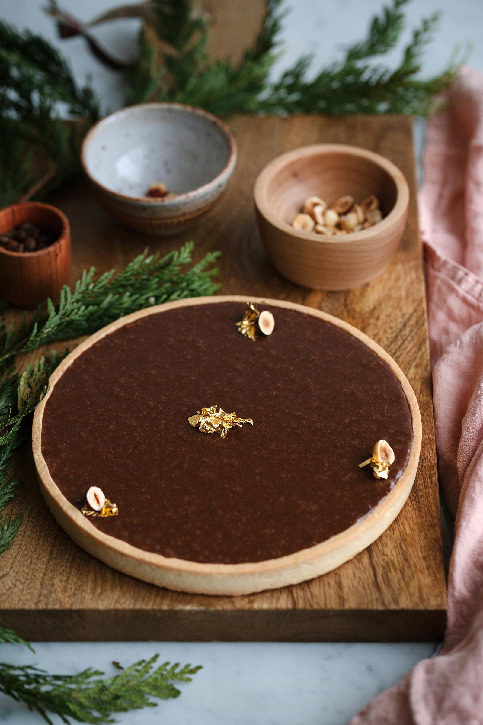 Salted Espresso Caramel & Gianduja Tart | Now, Forager | Teresa Floyd Photography