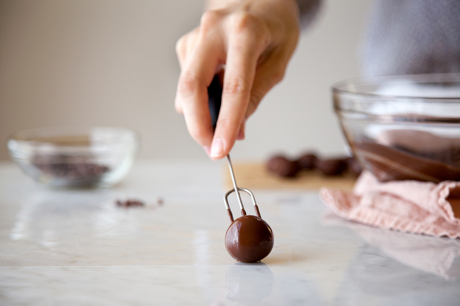 Cocoa Nib Chocolate Truffles | Now, Forager | Teresa Floyd