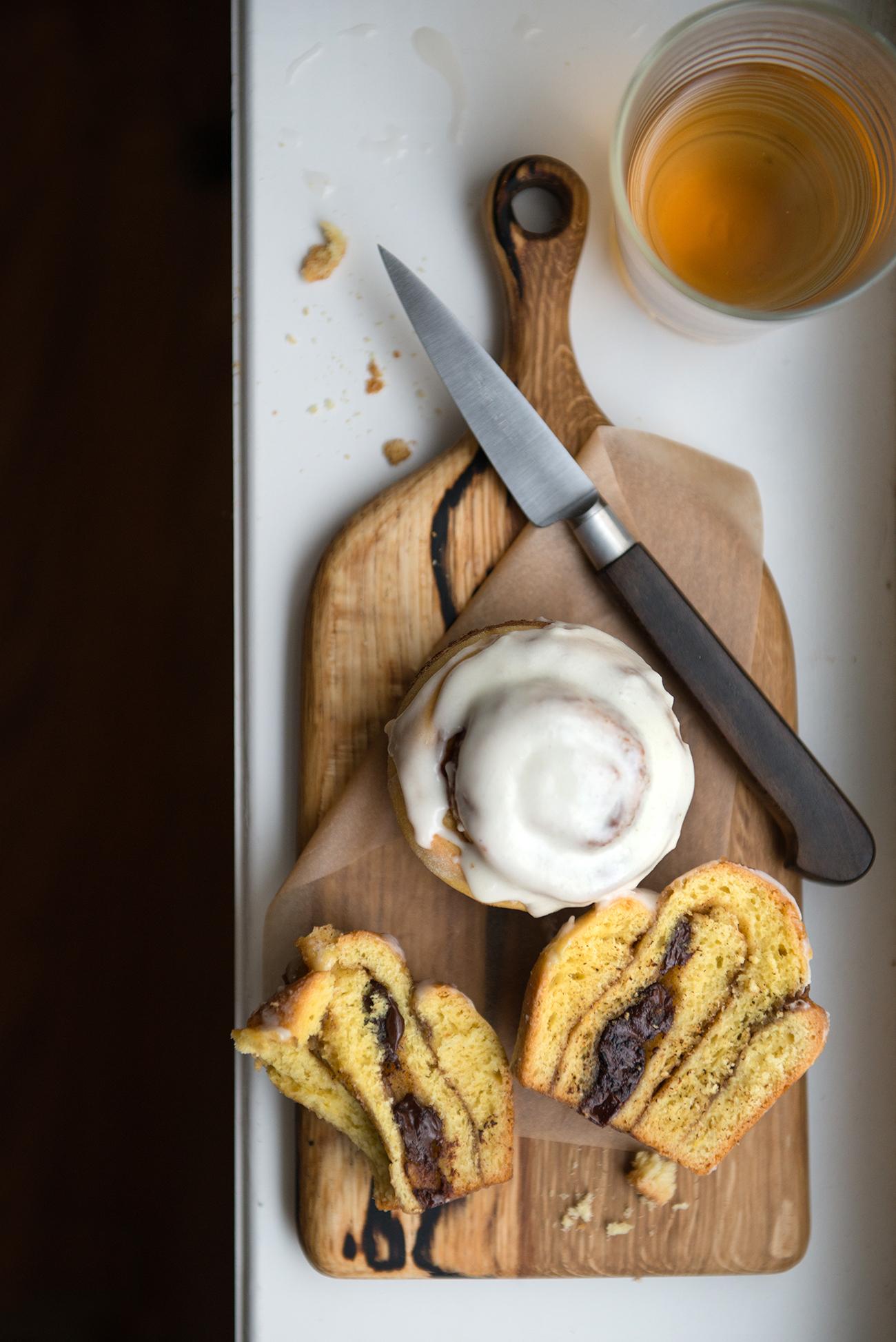 Saffron & Cardamom Cinnamon Bun | Now, Forager | Teresa Floyd