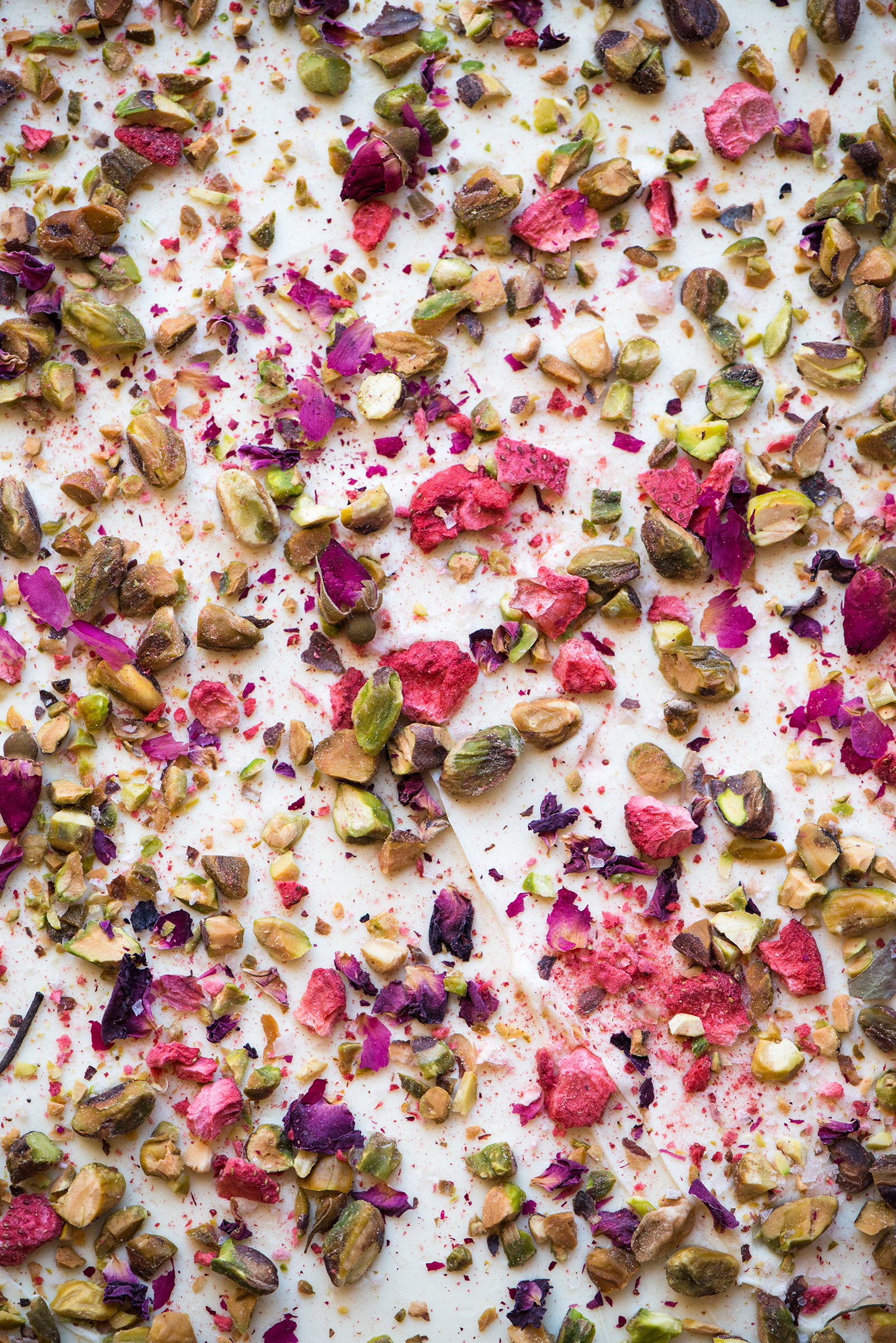 Rose Pistachio & Strawberry White Chocolate Bark | Now, Forager | Teresa Floyd Photography