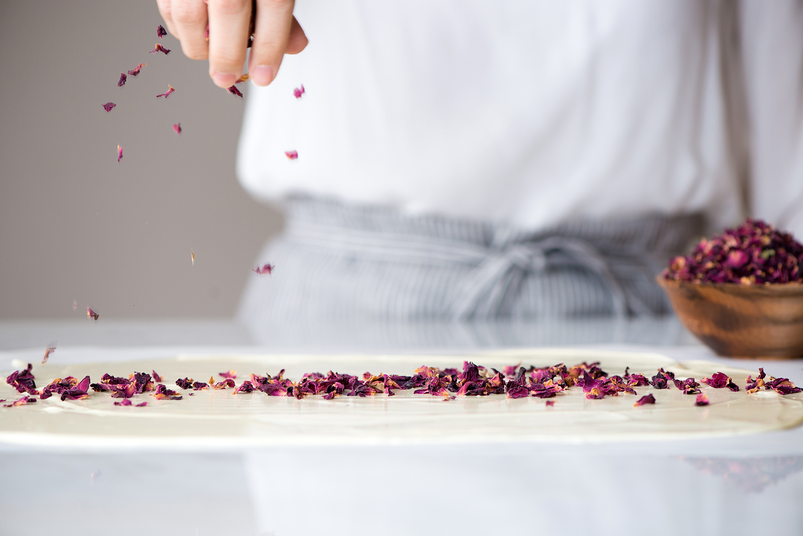 White Chocolate Bark With Rose, Strawberry, & Pistachio | Now, Forager | Teresa Floyd