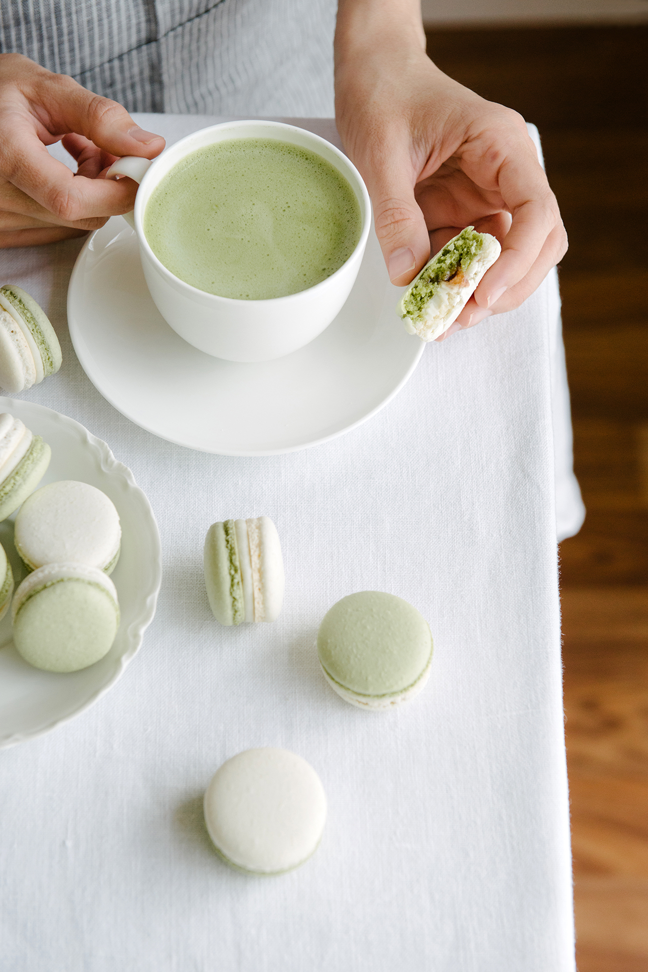 Matcha Coconut and Strawberry Macarons | Now, Forager | Teresa Floyd