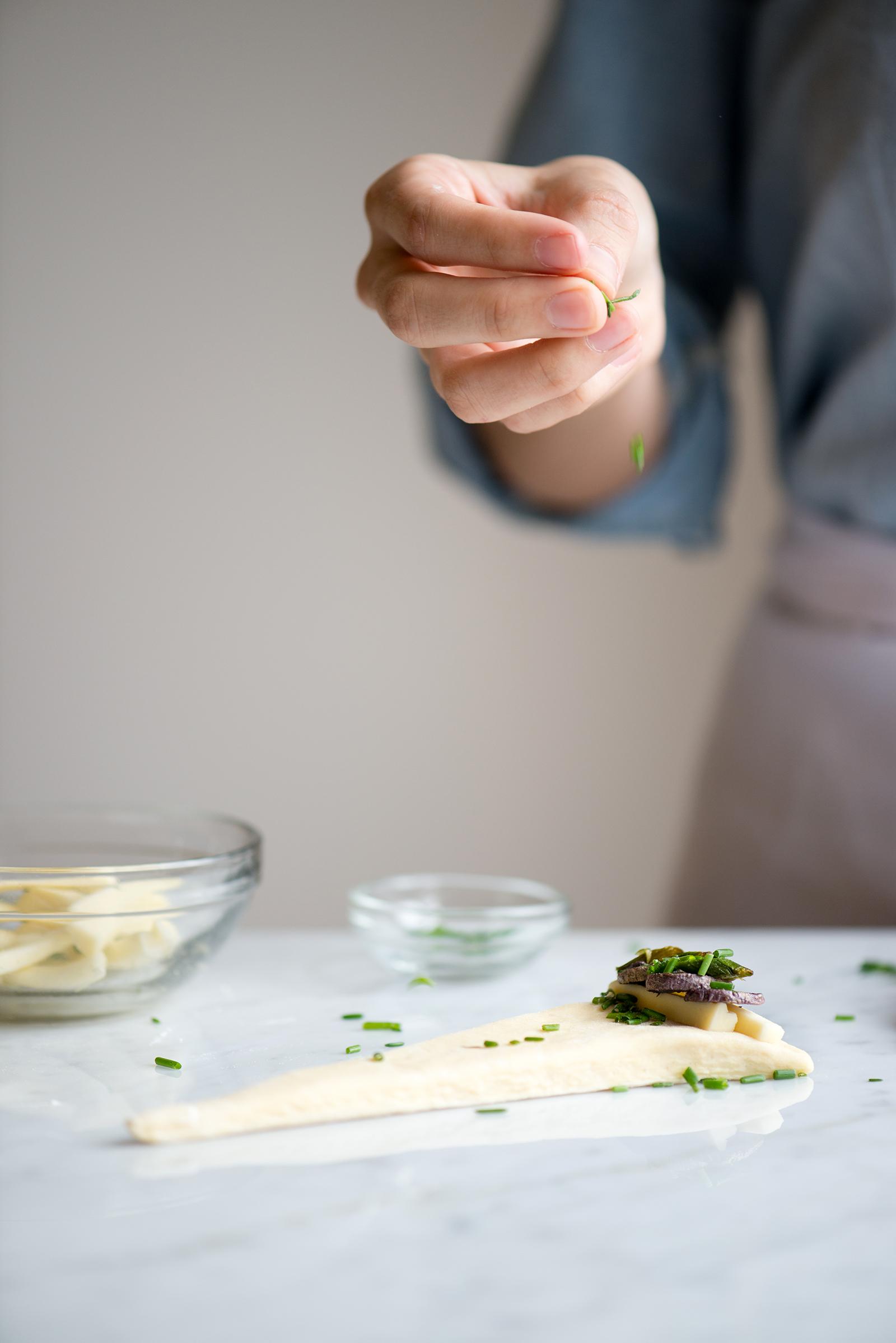 Filling Purple Potato, Asparagus And Havarti Savory Croissants | Now, Forager | Teresa Floyd