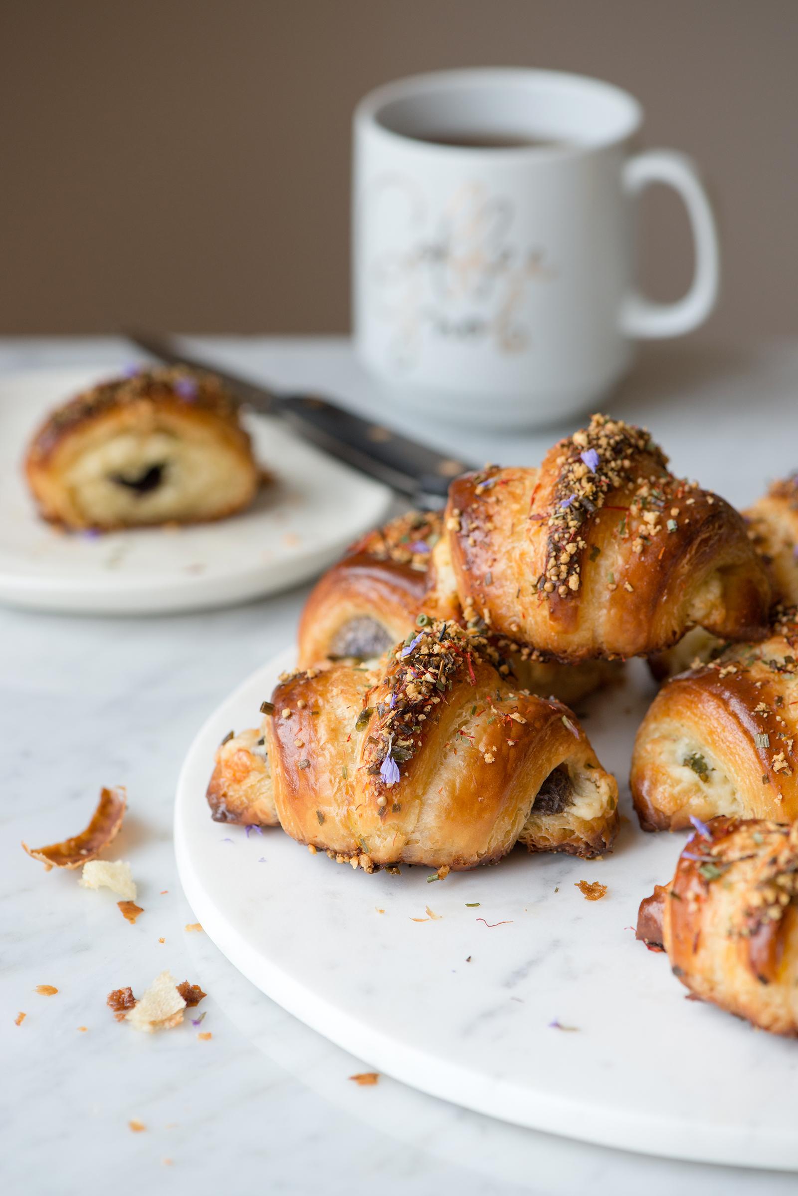 Purple Potato, Asparagus And Havarti Savory Stuffed Croissants | Now, Forager | Teresa Floyd