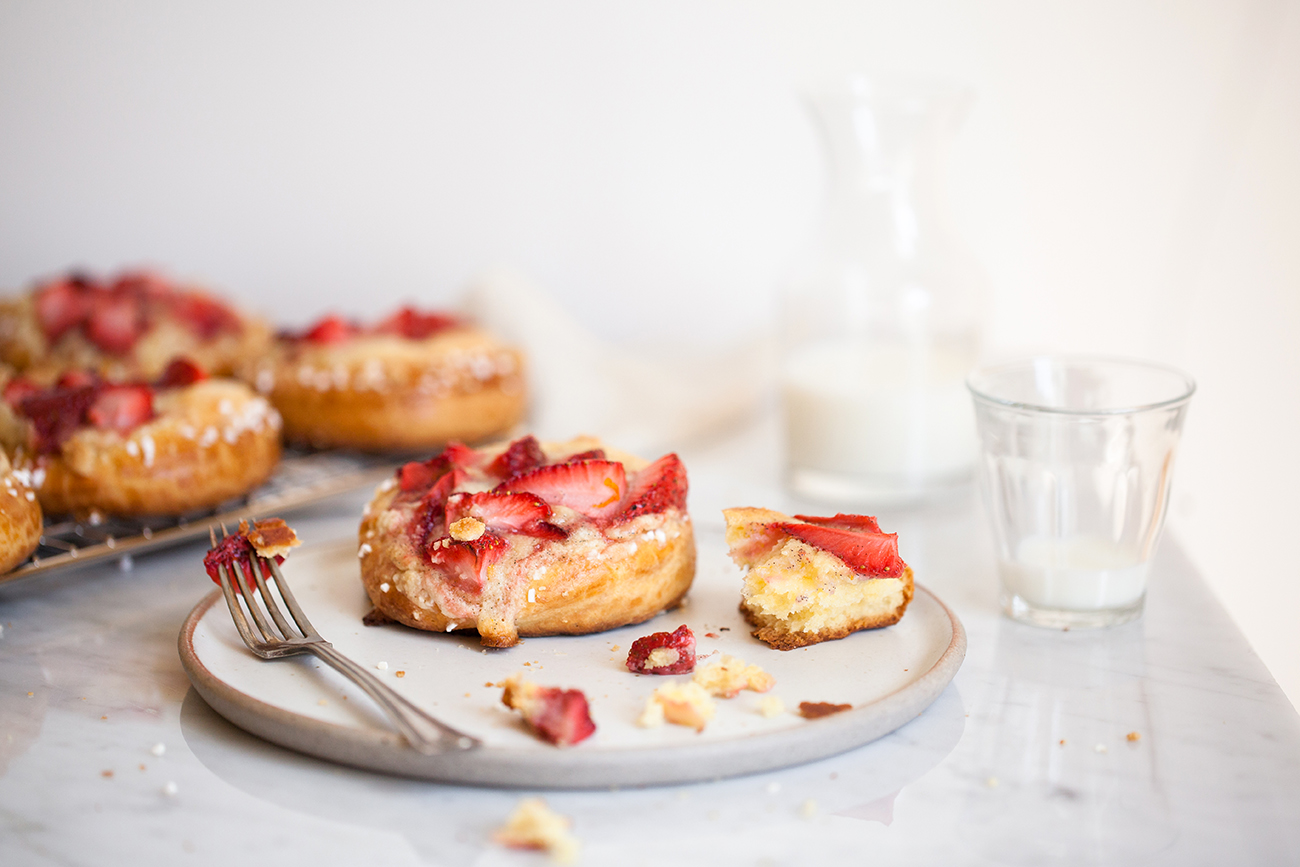 Strawberries And Cream Brioche | Now, Forager | Teresa Floyd Photography