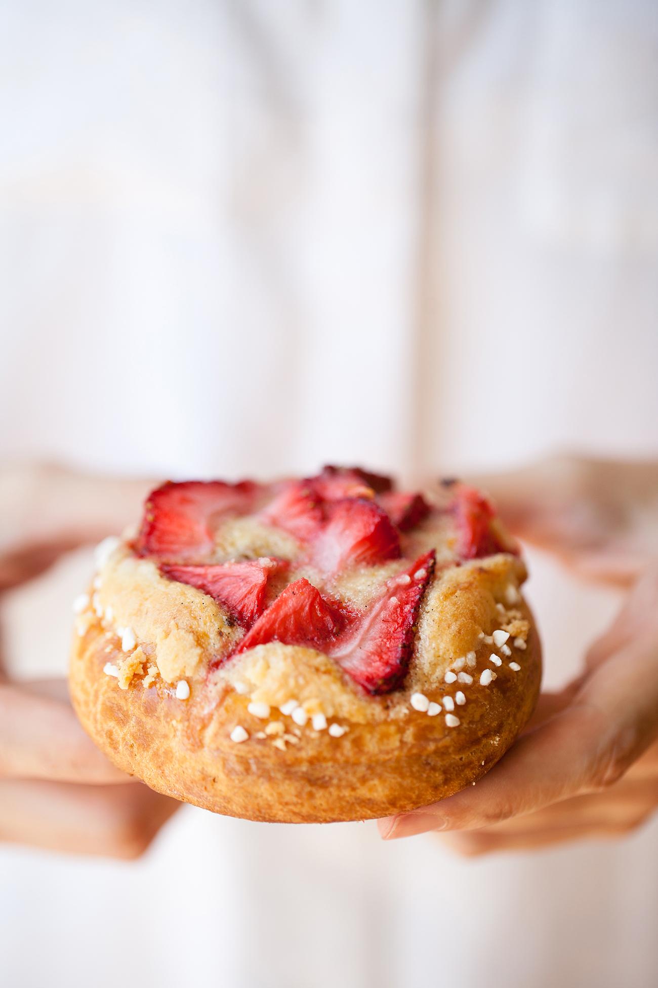 Strawberries & Cream Brioche Pastries   Now, Forager   Teresa Floyd