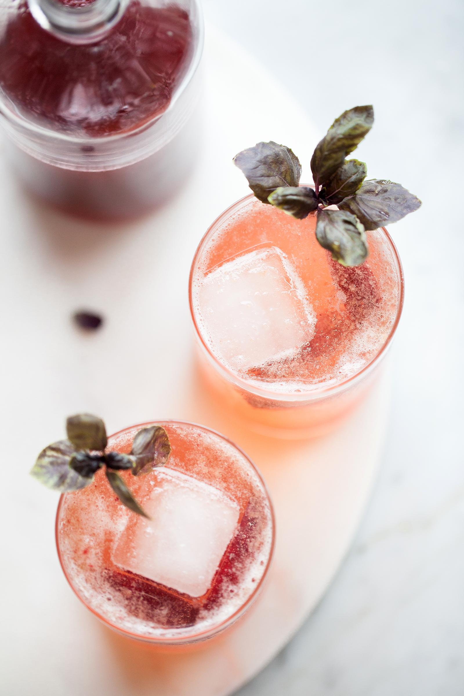 Sparkling Plumcot & Purple Basil Shrubs | Now, Forager | Teresa Floyd
