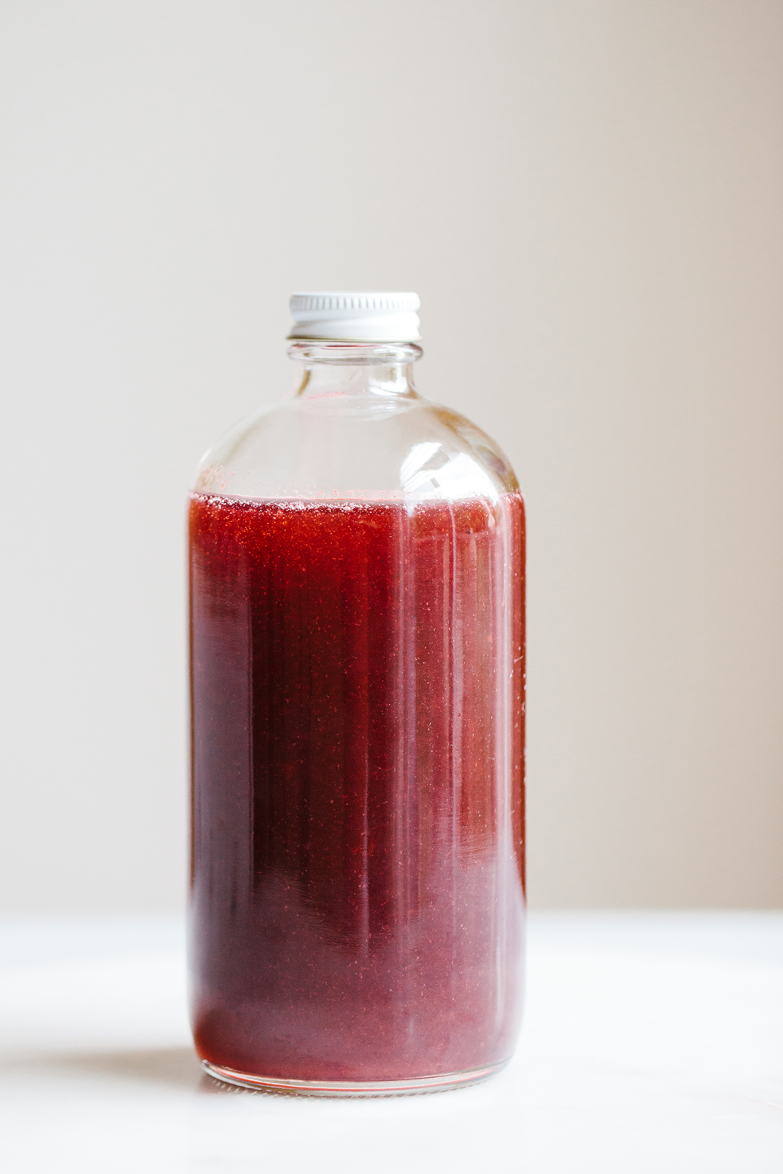 Sparkling Plumcot and Purple Basil Shrub | Now, Forager | Teresa Floyd