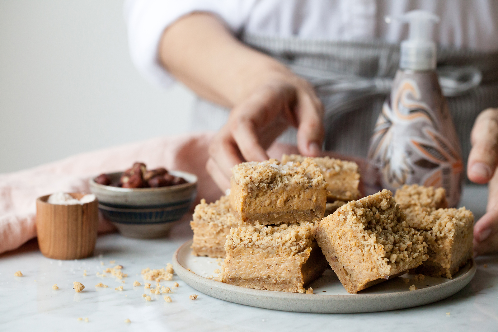 Pumpkin Clove Pavé Bars with Hazelnut Streusel | Now, Forager | Teresa Floyd