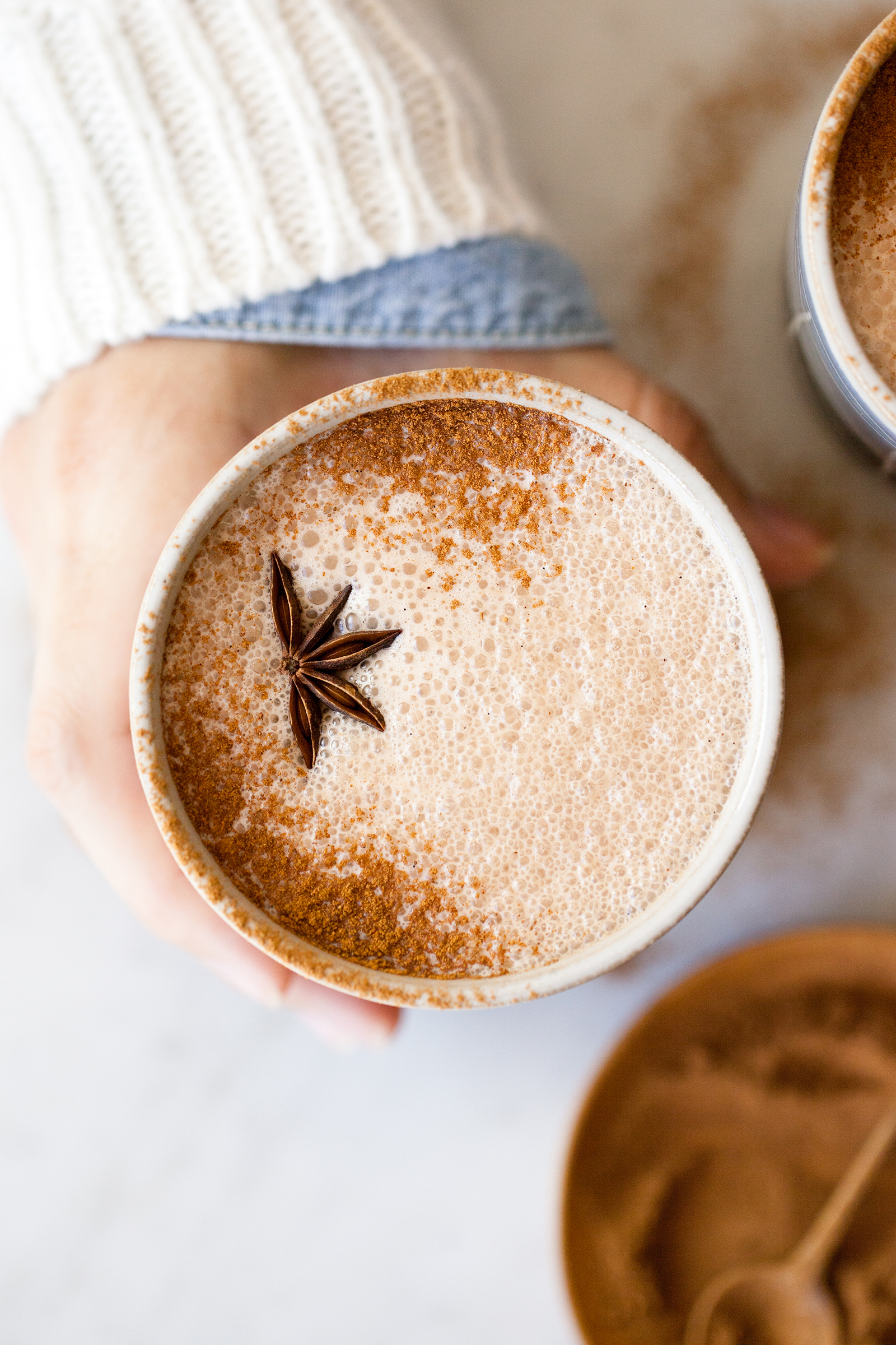 Frothy Chai Hot Chocolate with Milk Chocolate Ganache | Now, Forager | Teresa Floyd