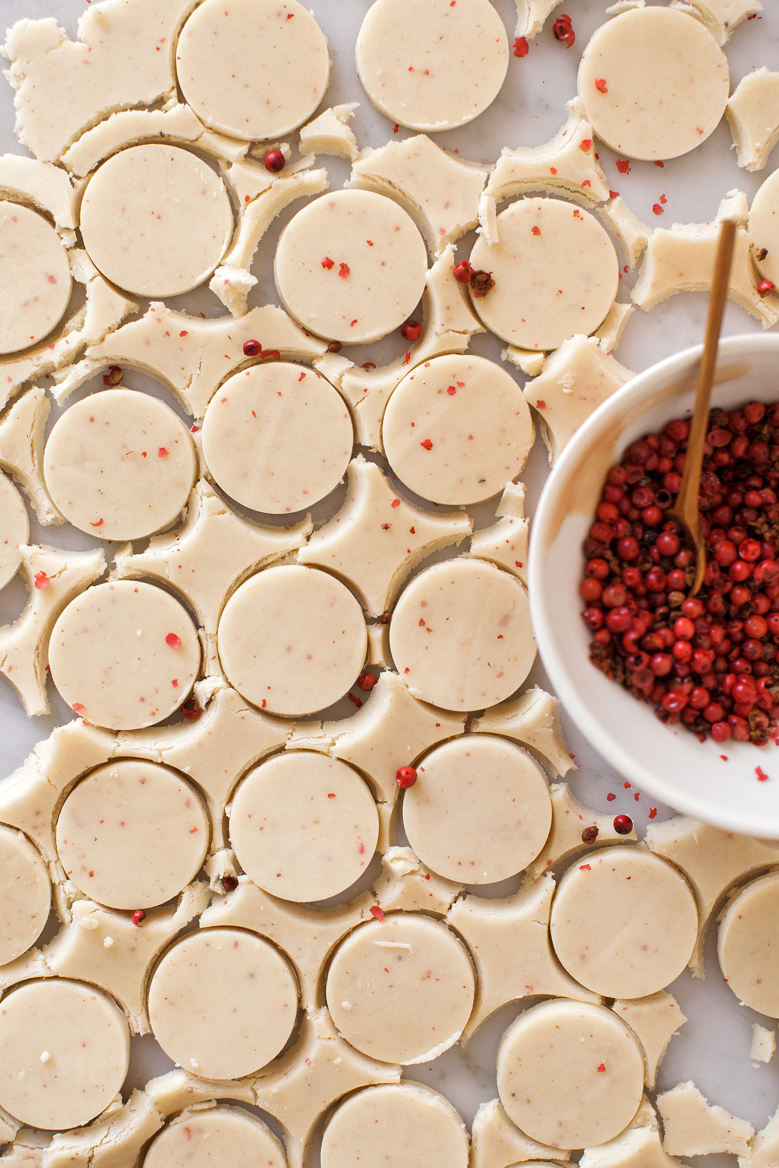 Pink Peppercorn Shortbread Cookies | Now, Forager | Teresa Floyd