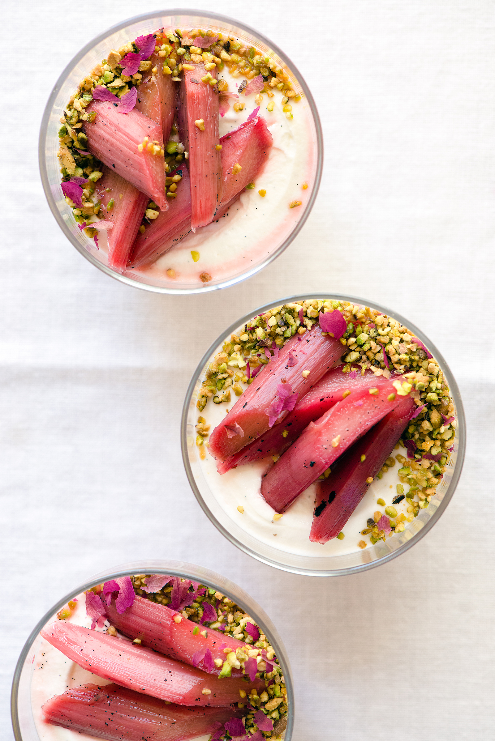 Labneh Mousse with Orange Blossom Rhubarb | Now, Forager | Teresa Floyd