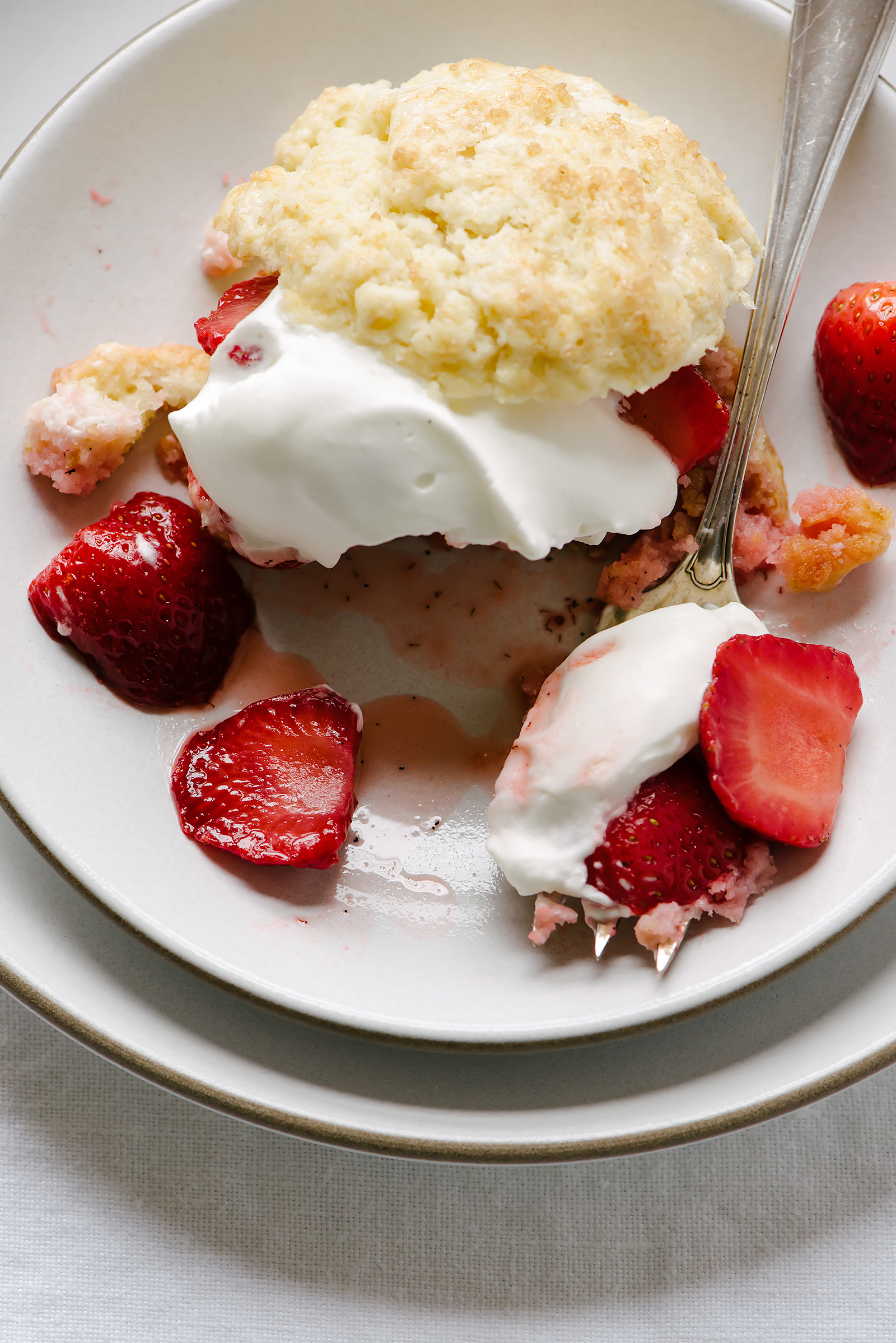 Roasted Strawberry Thyme Shortcake - NOW, FORAGER