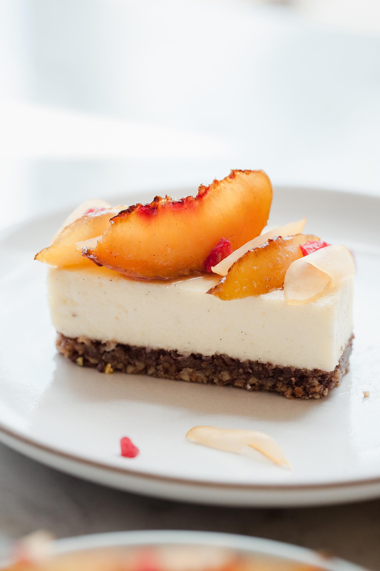 Caramelized Peach Cheesecake | Now, Forager | Teresa Floyd